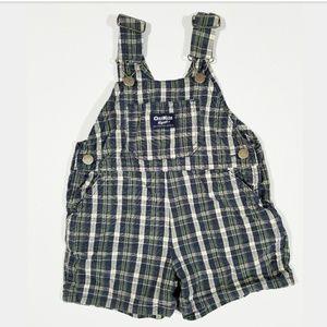 2 for $10 OshKosh Checker Pattern Vestbak Overalls